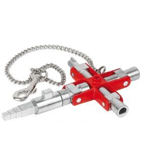 KN-001106V01 Универсальный ключ для электрошкафов и систем запирания Knipex