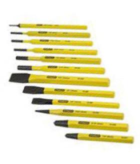 ST-4-18-299 Набор зубил и пробойников по металлу (12 штук; 6-8-4-10-12-16 мм; 1.5-3-4-5-6-8 мм) STANLEY