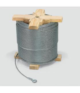 23289007 STC 5-6 Аксессуар стальной канат цепь D 5 мм, для экспериментального каната лебедки, длина 750 м VETTER