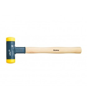 02093 Молоток без отдачи, с деревянной рукояткой 460гр жёлтый, сред твёрд Wiha