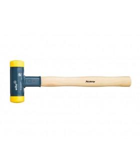 02092 Молоток без отдачи, с деревянной рукояткой 320гр, жёлтый, сред твёрд Wiha